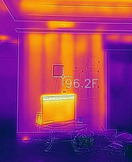 infrared, IR, AC, heat, blower door, airtightness