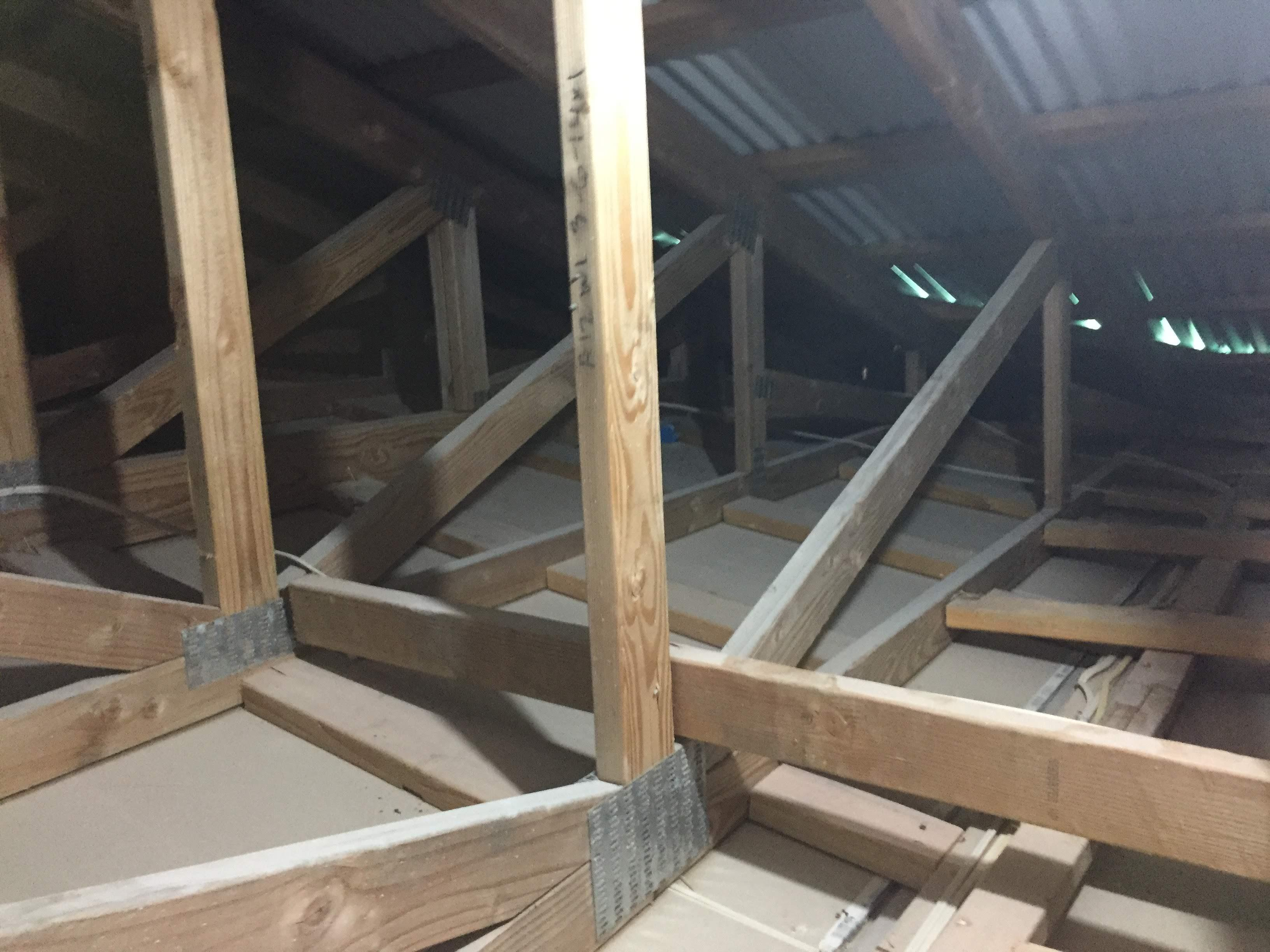 bare attic no insulation